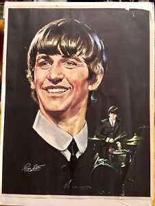 The Beatles  - Ringo Starr ( vintage Volpe poster )
