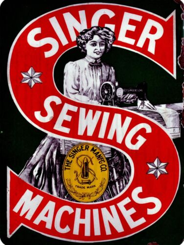 "Singer Sewing Machines 9"" x 12"" Sign"