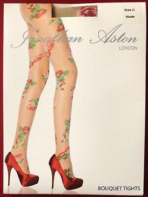 Jonathan Aston Bouquet Tights Pantyhose Size C Nude
