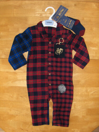 GENUINE+M%26S+HARRY+POTTER+ROMPER+OUTFIT%2FSET%2BSOCKS%3A+RED+MIX%3A+AGE+6-9+MTHS++BNWL