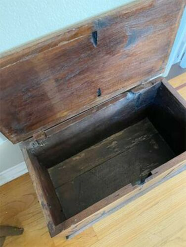Antique Primitive Storage Wooden Chest