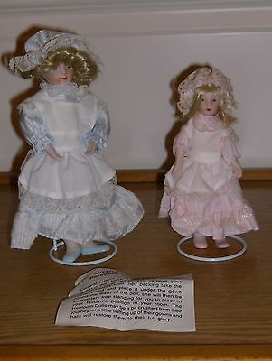 BNIB - Porcelain Mother & Daughter Heirloom Collectors Dolls 2