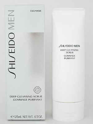 Shiseido Men Deep Cleansing Scrub 125 ml/ 4.5 oz New In Box