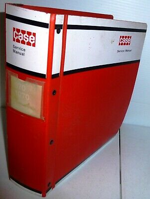 Case Vintage 970 And 1070 Tractors Service Manual Wbinder