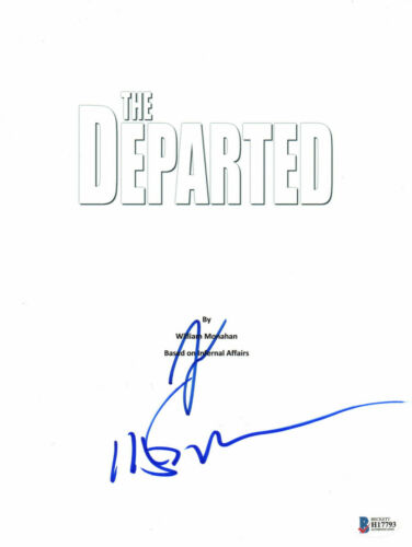 LEONARDO DICAPRIO & MARTIN SCORSESE SIGNED AUTO THE DEPARTED SCRIPT BECKETT BAS