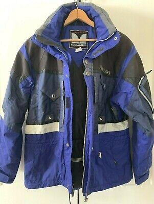 Vintage Mens Ski Jacket 42 M L COULOIR Snowboard Parka Insulated Blue Winter