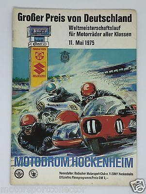 Großer Preis von Deutschland 1975 Motodrom Hockenheim,  Motorrad GP - Programm
