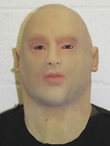 Full head & Neck Realistic Man Latex Mask Male Disguise Halloween Fancy Dress