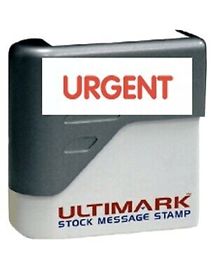 Urgent  Ultimark Pre-inked Message Stamp With Red Ink New Fast Shipping.