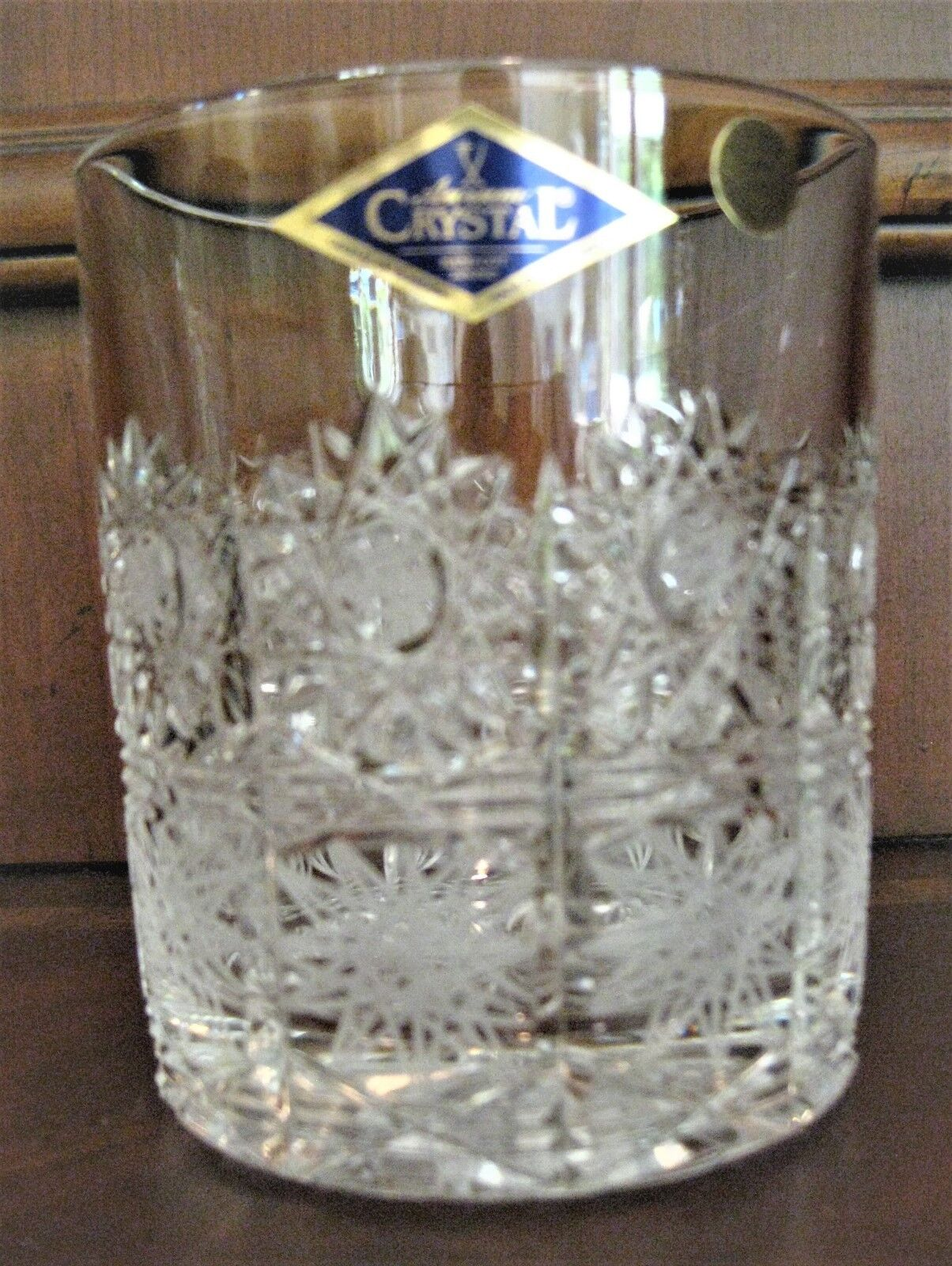 Bohemia Crystal Hand Cut set of 6 Tumble Glasses, Queen-lace Cut, Czech Republic