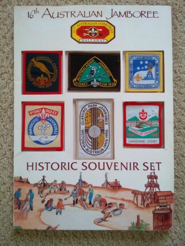 16th Annual Australian Jamboree Boy Scout Historic Souvenir Patch Set