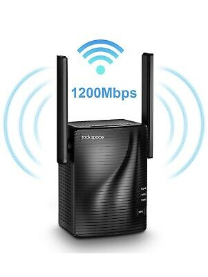 Rock Space WiFi Signal Range Booster Wireless Network Repeater Extender AC1200