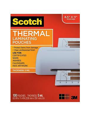 Scotch Thermal Laminating Pouches 8.9 X 11.4-inches 5 Mil Thick 100-pack