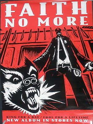 FAITH NO MORE KING FOR A DAY 1995 VINTAGE MUSIC RECORD STORE HUGE PROMO POSTER