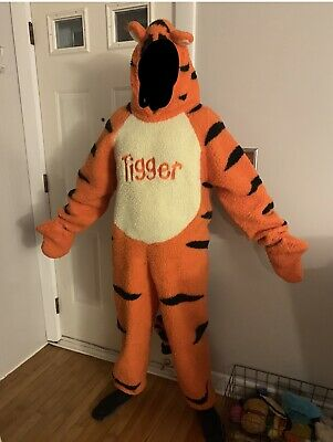 Winnie The Pooh And Tigger Halloween Costumes (Disney Store Winnie the Pooh and TIGGERFuzzy Plush Full Body CostumeAdult)