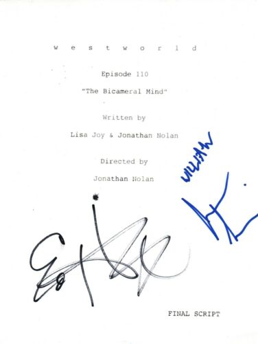 Ed Harris & Jimmi Simpson Signed Autograph WESTWORLD Episode 1x10 Script COA