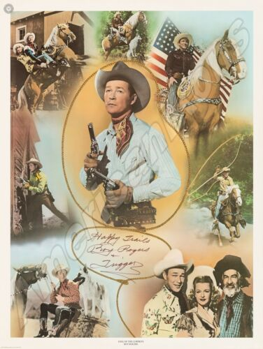 Happy Trails from Roy Rogers & Trigger NEW Metal Sign: Roy Rogers Montage Art