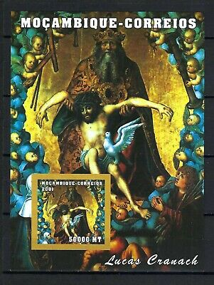 Mozambique 2001 Sc#1490  Cranach Paintings-Holy Trinity  MNH Imperf. S/S $4.00