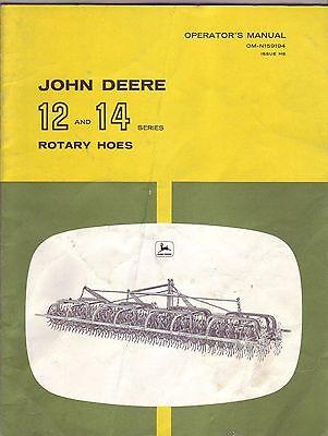 John Deere 12 & 14 Rotary Hoes Manual