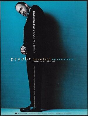 The Who Pete Townshend 1993 Psychoderelict advertisement 8 x 11 ad print