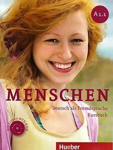 hueber menschen a1 1 deutsch als fremdsprache kursbuch mit lerner dvd rom new 3193019011 ebay. Black Bedroom Furniture Sets. Home Design Ideas