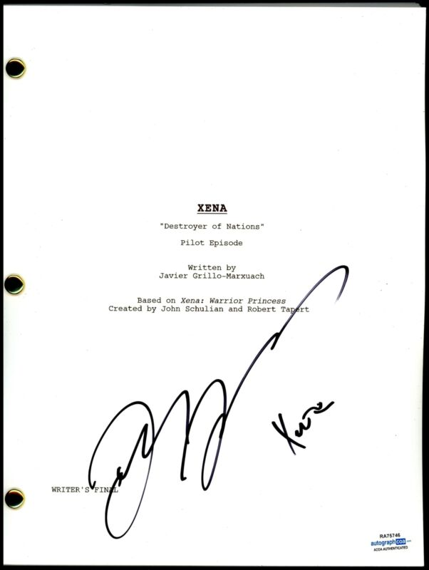 "Lucy Lawless ""Xena: Destroyer of Nations"" AUTOGRAPH Signed Pilot Script ACOA"