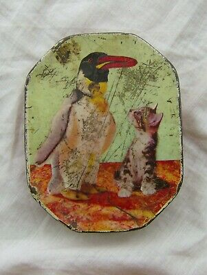 Small Vintage Toffee Tin of Buttons