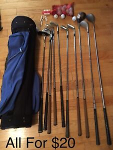 Golf clubs and bag (obo)
