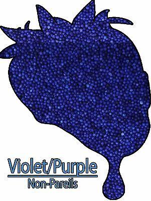 Cookies Cakes Edible Purple Non Pareils Sprinkles Confetti 8 oz