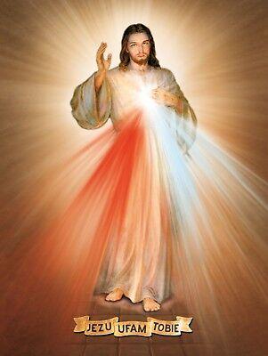 Religious icon Merciful Jesus religijny Jezus Miłosierny Gesù misericordioso