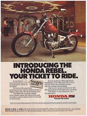 Honda in romn este simplu s cumprai ebay pe zipy original 1985 honda rebel motorcycle your ticket to ride vintage print ad fandeluxe Gallery