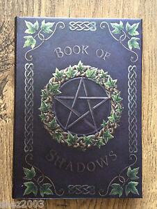 Ivy Book of Shadows ~ Embossed Journal with Pentagram ~ Spells ~ Wicca ~ Pagan