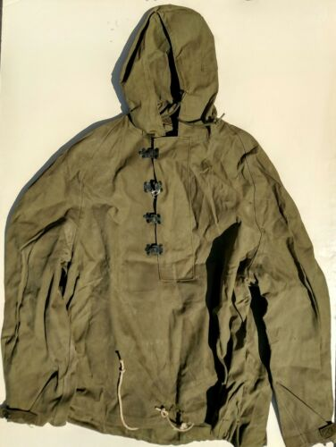US WWII P1944 Wet Weather Medium Size Treated Canvas Parkas