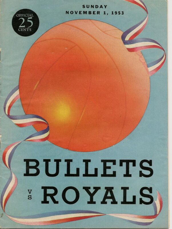 1953-54 Baltimore Bullets-Royals Program Royals Spoil Bullets Opener GEM!!