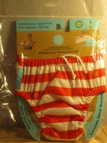 NIP Charlie Banana Reusable Swim Diaper size small girl or boy Leak free NEW