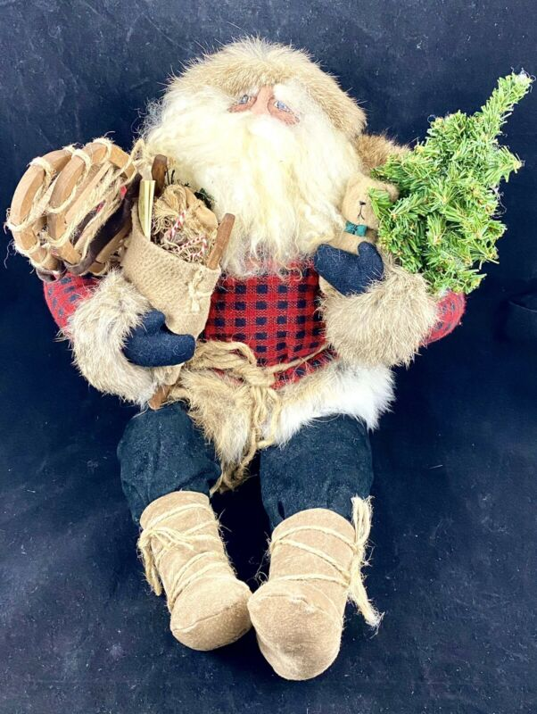 "Rare Signed Limited Edition Bethany Lowe ""Sitting Mountain Santa"" 1993 42/150"