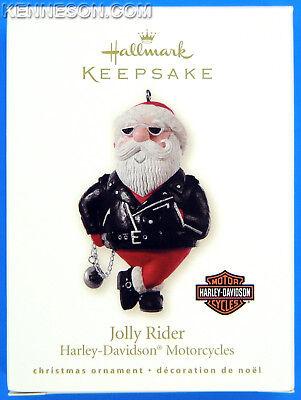 Jolly Rider Harley Davidson Motorcycles Hallmark Christmas Ornament 2008