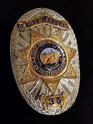 Riverside County CA Deputy Marshal Badge - Defunct Agency