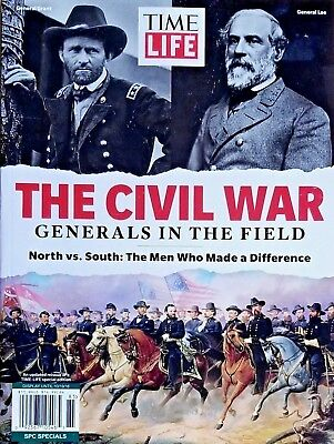 CIVIL WAR GENERALS IN THE FIELD NORTH VS SOUTH TIME LIFE MAGAZINE FREE SHIPPING.