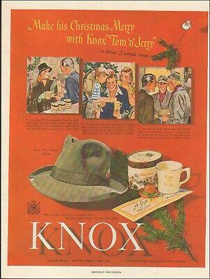 1950s Mens Hats | 50s Vintage Men's Hats 1950's Vintage ad for Knox Hat's retro Fashion Christmas Men's    072119 $8.59 AT vintagedancer.com