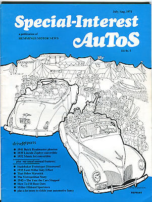 Special Interest Autos Magazine July August 1971 Ex 041416Jhe