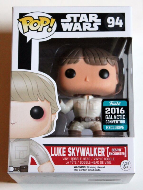 2016 GALACTIC EXCLUSIVE BESPIN LUKE SKYWALKER FUNKO POP VINYL FIGURE STAR WARS