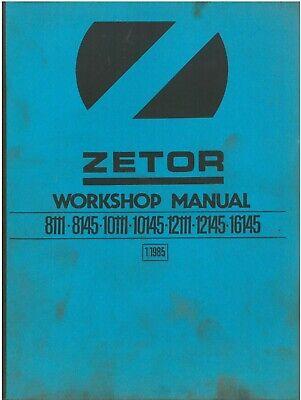 Zetor Tractor 8111 8145 10111 10145 12111 12145 16145 Workshop Manual, używany na sprzedaż  Wysyłka do Poland