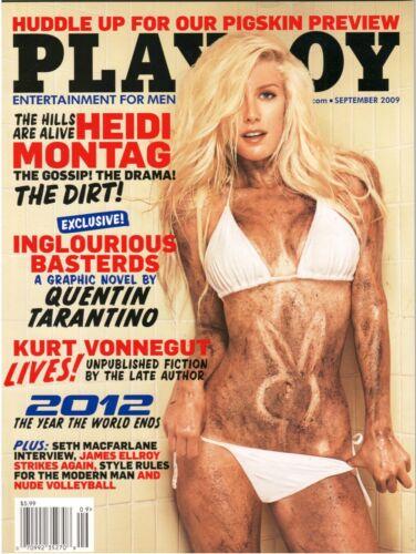 Playboy Magazine September 2009 Heidi Montag Factory Sealed