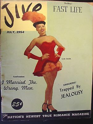 "1954 JIVE Magazine ""The Nations Newest True Romance Magazine"" Vol. 3 NO. 7"