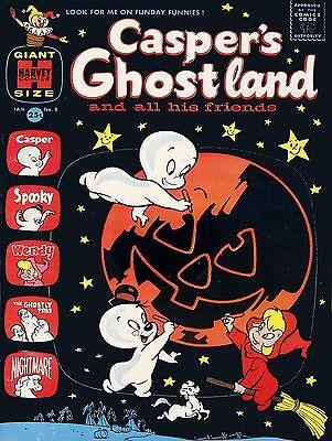Casper Ghost Comic Halloween High Quality Metal Magnet 3 x 4 inches 9217 (Ghost Casper Halloween)