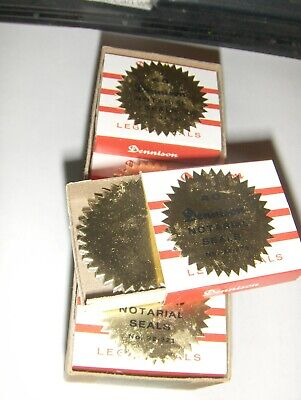 New Gold Foil Notary Certificate Seals 1 916 Inch Burst Pack Of 120