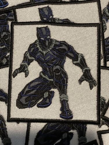 Black Panther Iron Or Sew On Patche 3 X 3  - $8.00