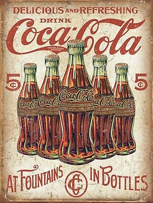 Drink Coke Coca Cola Retro Vintage Nostalgic Reproduction Metal Tin Sign 9