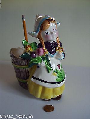 NAPCO Ceramic Dutch Girl PLANTER VTG Japan S662